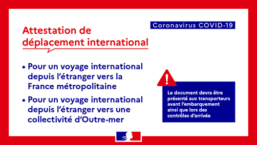 Voyage en France : documents de voyage, test Covid-19, (...)